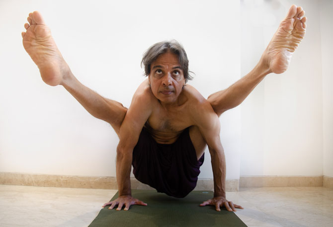 Another outstanding asana by Sandeep Desai in Astanga flow