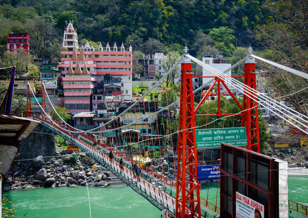 Beautiful bridge Laxman Jhula in Rishikesh